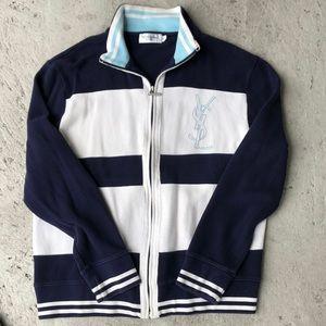 YSL Zippered Sweatshirt
